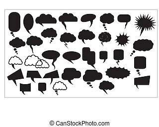 Chat Bubbles Vectors - Creative Abstract Conceptual Design...