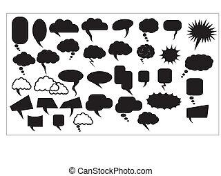 Chat Bubbles Vectors - Creative Abstract Conceptual Design...