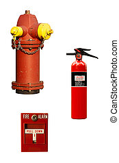 fire fighting equipment - several different examples of fire...