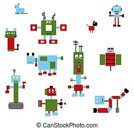 Robots Collection-1 - A collection of robot machines and...