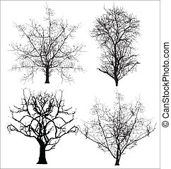 Dead Trees Vectors - Abstract Creative Conceptual Design Art...