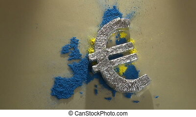 The European Union 2012 - Euro symbol drop