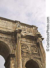 Constantine Arch - details of the Constantine Arch in Rome,...