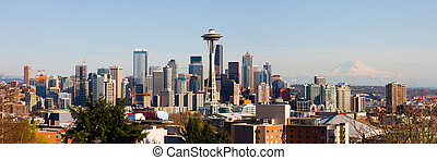 Seattle panorama - Seattle skyscrapers