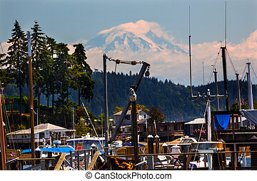 Gig Harbor Mount Ranier Washington State - Gig Harbor, Mount...