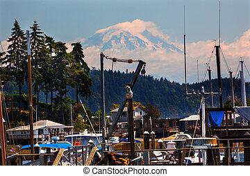 Gig Harbor Mount Ranier Washington State - Gig Harbor, Mount...