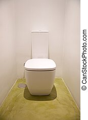 ceramic white watercloset - watercloset in white bathroom...