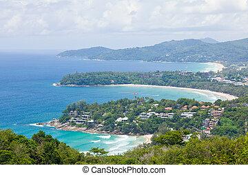 tropical beach aerial