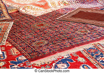 collection of valuable carpets of Afghan origin - beautiful...