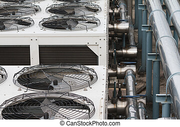 Cooling tower close up shot