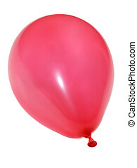 red balloon - single red ballon isolated on white