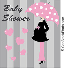 baby shower invitation or greeting