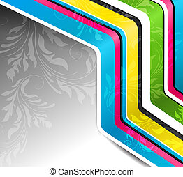 Vector abstract background with floral element