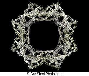 Abstract Fractal Art Circular Flower Object