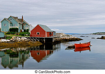 Peggys Cove harbour