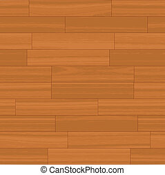 Seamless Wood Floor Vector - This wood floor pattern tiles...
