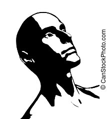 Bald Man - A bald man that looks to be in deep thought