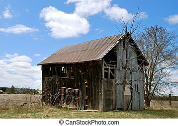 old country barn - old barn in Cayuga