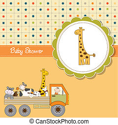 funny cartoon baby shower card