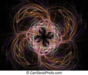 Abstract Fractal Art Twirl Flower Object