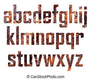 Rusted letters - Rusted small letters