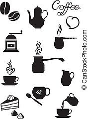 Coffee - Set of images of coffee, accessories, dishes and...