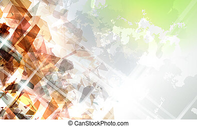 Abstract Shattered Background - Abstract illustration with...
