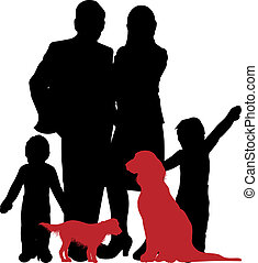 family silhouette  - a family silhouette
