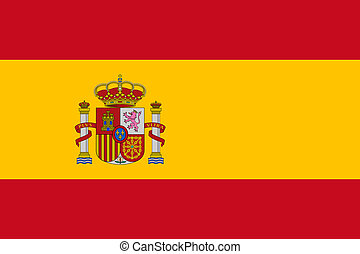 Spain Flag - Sovereign state flag of country of Spain in...