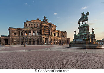 The Semper Opera House in Dresden - Semperoper (Saxon State...