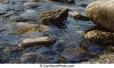 water flows - Ticino River water flows detail, Italy