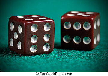Worn Out Dices - A pair of retro looking worn out dices