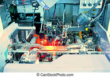 A working laser PCB processing machine