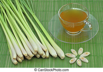 lemon grass tea. - The lemon grass and lemon grass tea.
