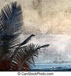 grunge palm-2 - grunge palm background