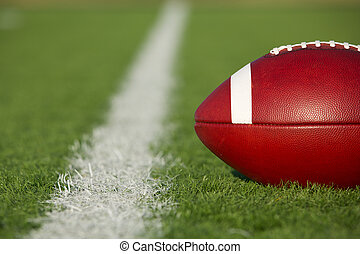 American Football near the Line - American Football on the...