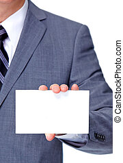 Executive businessman. - Hand of businessman with a business...