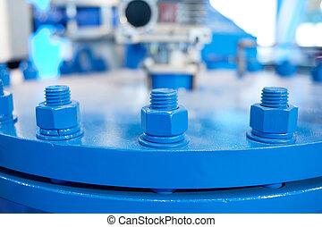 Blue flange