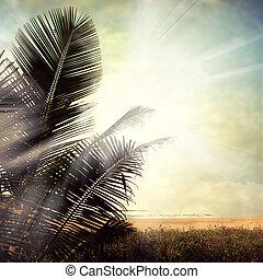 grunge palm-9 - grunge palm background