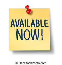 Available Now Office Note - Available now office note with a...