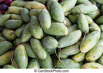 fresh green mango thailand fruit
