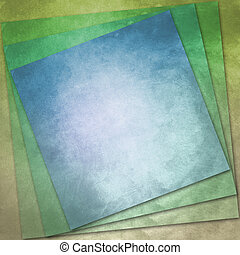 Tinted Vintage Paper - Blue and brown tinted vintage paper...
