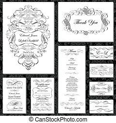 Vector Fancy Frame Set Easy to edit Perfect for invitations...