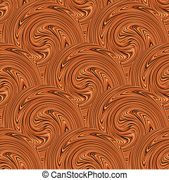 Coffee swirl seamless background. Vector