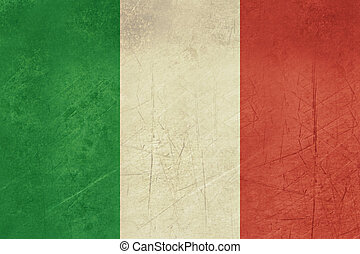 Grunge Italy flag - Grunge sovereign state flag of country...