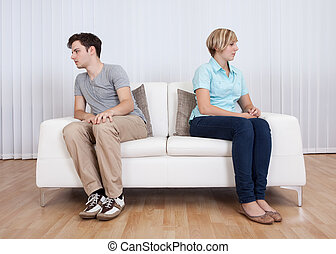 Brother and sister arguing - Brother and sister have had an...