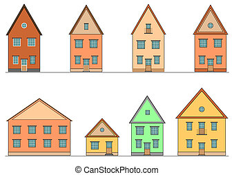 Set of houses Vector art