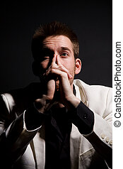 Thinking businessman - A shot of a thinking casual caucasian...