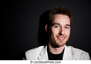Casual businessman - A headshot of a happy and smiling...