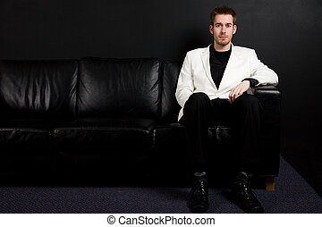 Casual businessman - A portrait of a casual caucasian...